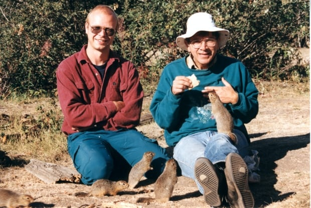 Rudy Boonstra and Tim Karels with Arctic ground squirrels