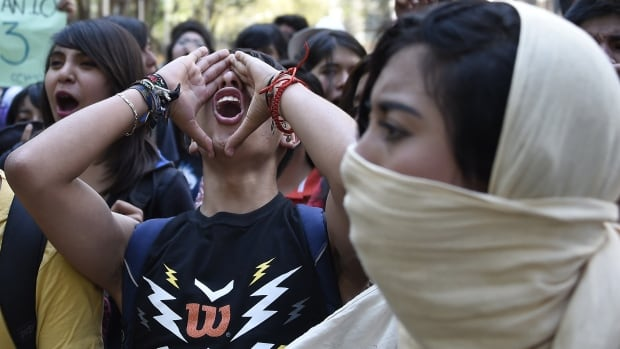 Students marched in Mexico City earlier this week to demand the government do more to help find the missing students. Officials now say they believe the students were killed in a mass murder.