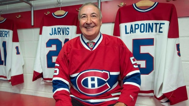 Canadiens great Guy Lapointe smiles at the Canadiens' Hall of Fame in Montreal, on June 19, 2014. Lapointe's jersey retirement ceremony will take place Saturday before a game against the Minnesota Wild, for which Lapointe serves as Coordinator of Amateur Scouting.