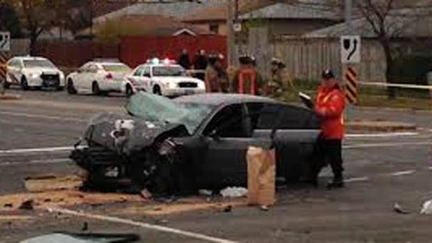 TTC bus car crash