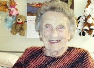 Victoria Badcock 100-years-old remembers father at Beaumont-Hamel