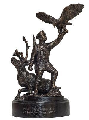 Francis Pagahmagabow bronze statue