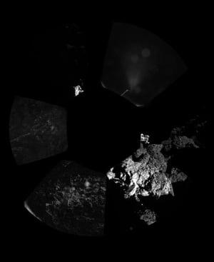 Philae's panoramic view