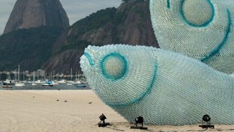 Giant fish of bottles