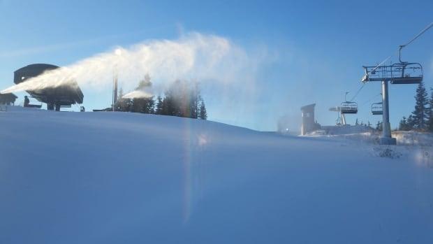 Grouse Mountain snow gun - Nov. 13, 2014