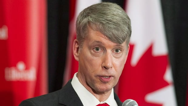 Andrew Leslie speaks in Montreal earlier this year. Former leadership contender David Bertschi was barred from seeking the Liberal nomination in Ottawa-Orleans, clearing the way for Leslie to carry the party banner in the riding during next year's federal election.