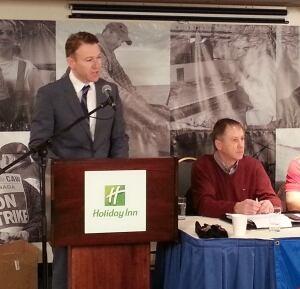 Keith Sullivan speaks to FFAW meeting