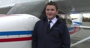 Kyle Ash Gander youngest pilot