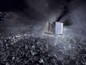Philae on comet surface