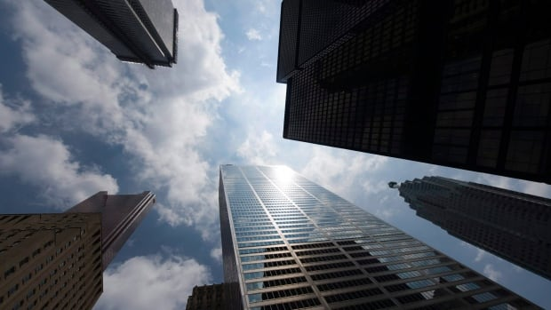 Toronto's downtown business vacancy rate has fallen below 5 per cent and is now tied with San Francisco's as the lowest in North America, commercial real estate giant CBRE says.