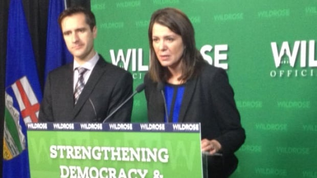 Wildrose MLA Rob Anderson and party leader Danielle Smith discussed their proposals for government transparency and accountability on Wednesday.