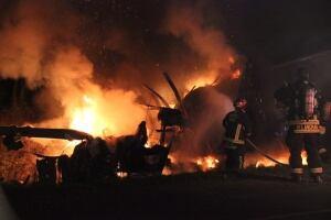 Fiery crash on 176 street at 88 Avenue - Nov. 19, 2014