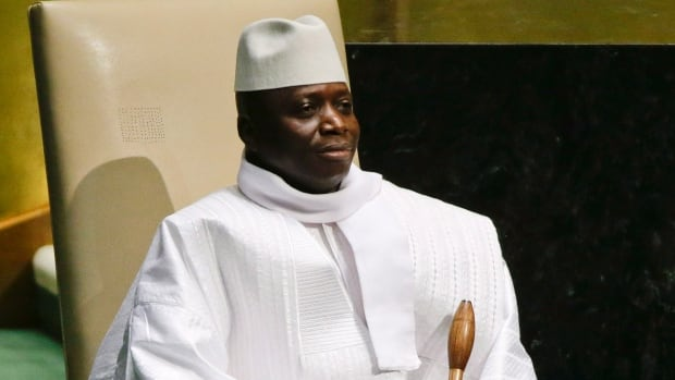 Gambia's President Al Hadji Yahya Jammeh, pictured here in September at the United Nations General Assembly, has signed a law that would make homosexual acts punishable by life in prison.