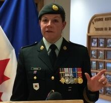 Lt.-Col. Carla Harding, Commanding Officer of 2 Service Battalion
