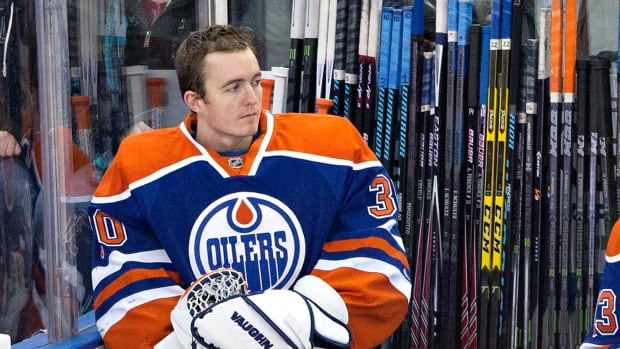 Edmonton Oilers goalie Ben Scrivens was pulled in Saturday's 7-1 loss after allowing five goals on 13 shots.