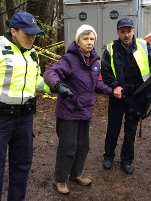 Barbara Grant, 84, arrested on Burnaby Mountain on Nov. 25, 2014