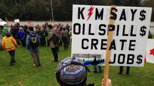 Kinder Morgan protests erupted on Burnaby Mountain in November.