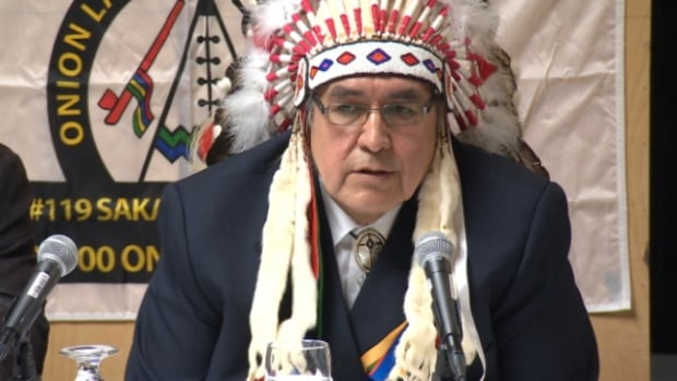 Chief Wallace Fox says Onion Lake Cree Nation is taking the federal government to court in response to the government's 'ultimatum' and 'threatening letters.'