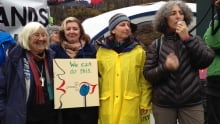 clayoquot protesors burnaby mountain 24-11-14