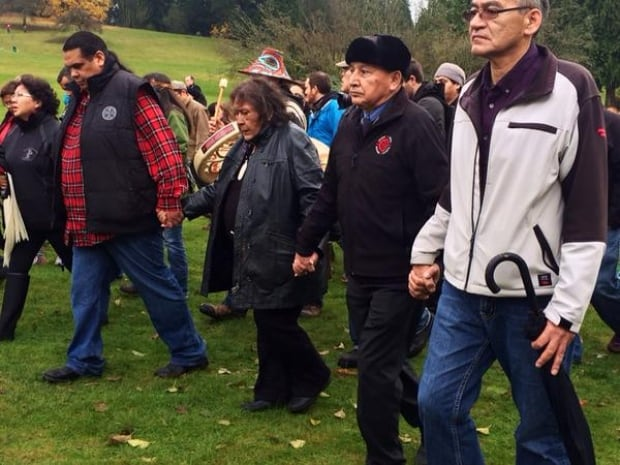 Grand Chief Stewart Phillip at Kinder Morgan pipeline protest