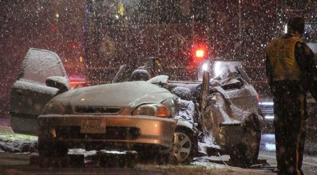 Langley accident snowfall