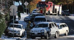 8 car pileup Burnaby