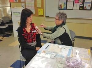 Nurses flu shot