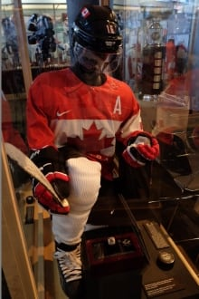 Jonathan Toews's Team Canada uniform
