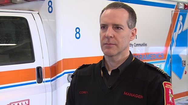 Corey Banks is manager of the paramedicine and medical transport division at Eastern Health.