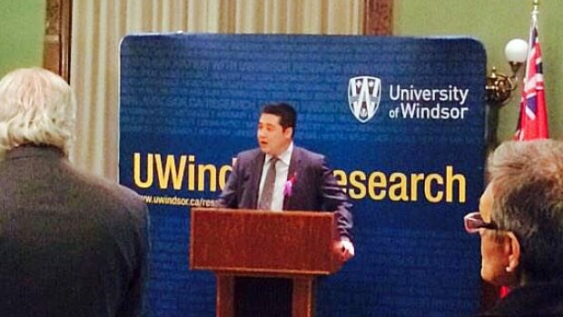 The school's Cross-Border Institute presented advances in security, surveillance and fingerprinting technology during a security technology reception at Queen's Park.