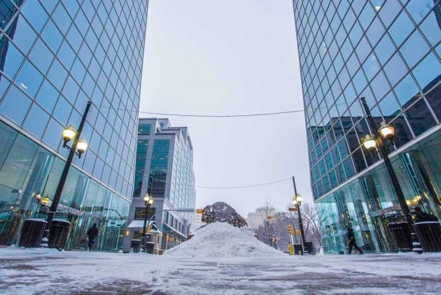 Buffalo mound downtown Regina