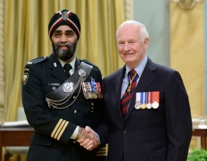 Harjit Sajjan and Gov. Gen. David Johnston