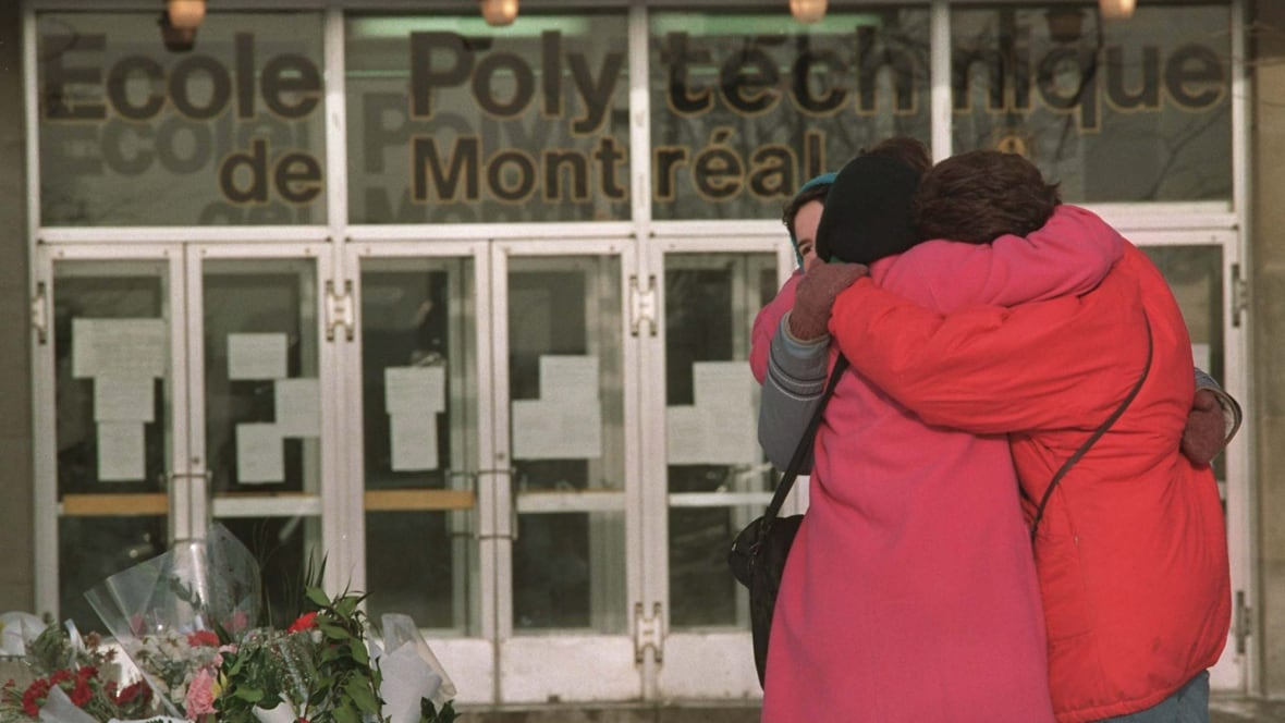 "montreal massacre A memorial plaque at ecole polytechnique, remembering the victims of the montreal massacre every day people express ""shock"" when yet another man kills his wife, girlfriend, ex-partner, or child."