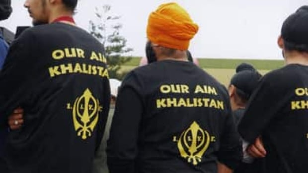 Young men wear International Sikh Youth Federation T-shirts at a Vaisakhi Parade, April 7, 2007, in Surrey, B.C. The ISYF is banned as a terrorist organization by the governments of Canada, the U.S., the U.K. and India.