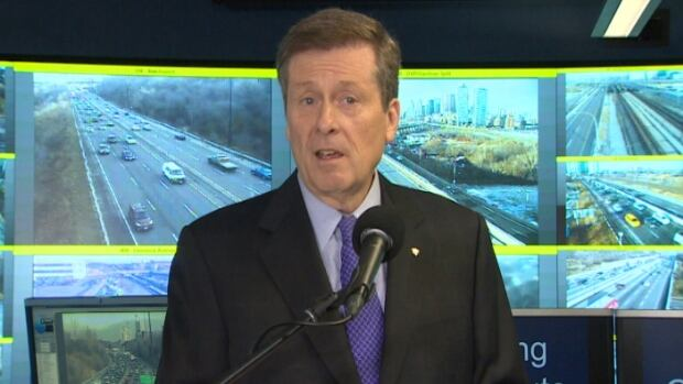 """There's a new sheriff in town,"" said Tory as he explained his strategy to keep vehicles from blocking main roads during rush hour."