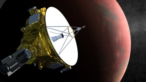 NASA's New Horizons spacecraft, seen in an artist's impression, is the size of a piano and only requires the power needed for two 100-watt light bulbs to conduct its Pluto mission.
