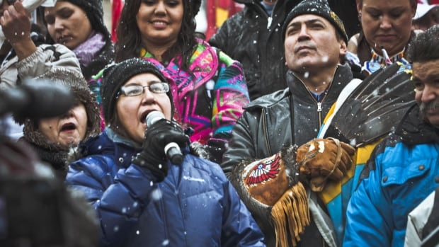 The power and presence of Sylvia McAdam helped propel Idle No More. Parliament Hill in Ottawa on Dec. 28, 2012.