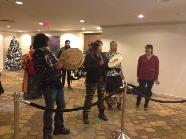 Energy East protesters at Delta Winnipeg