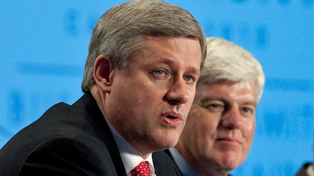 "Allies at times, John Manley (right), head the Canadian Council of Chief Executives, now wants Prime Minister Stephen Harper to rethink the government's new ""integrity framework,"" which business groups say goes too far."