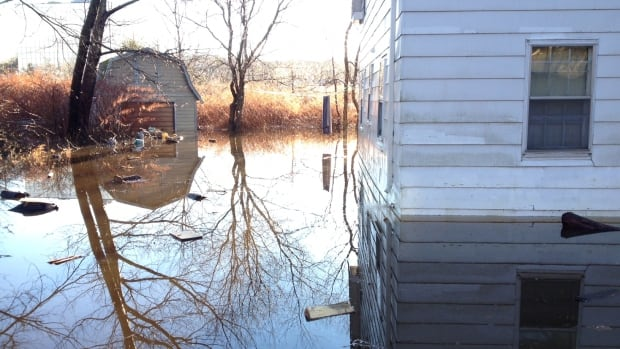 Several houses in Bedford were surrounded by water after flooding in December 2014. Halifax is trying to get federal money to prevent similar floods in the future.