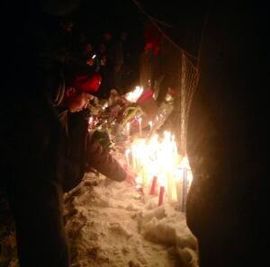 Candlelight vigil for Brandy Vittrekwa