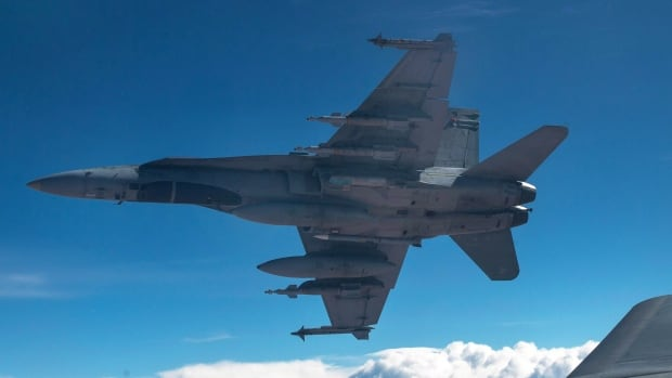A CF-18 Hornet like this one will fly over TD Place on Aug. 25, 2016, to mark the annual Ottawa Redblacks appreciation game for the Canadian Armed Forces.