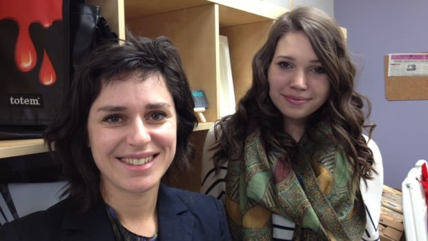 Anouk Bertner, the director of business operations at Eco-Equitable, at left and third-year university student Shevaun Ensor-Harrison, at right, worked together to get the products on its online store.