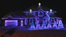 Robert-Pilon Street Christmas lights display