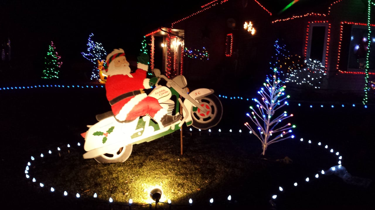 Motorcycle Christmas Lights Decor And Light