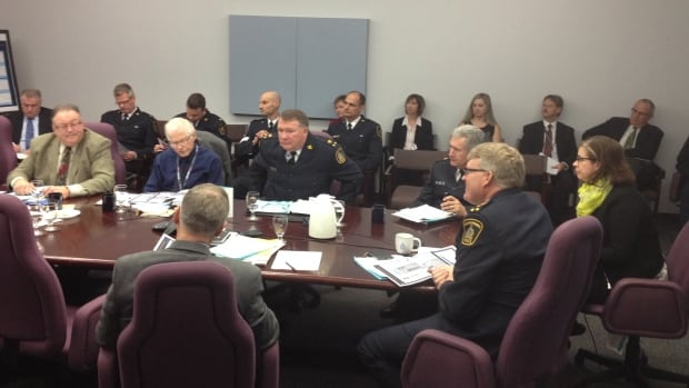 The Waterloo Region police services board discussed a proposed budget for 2015 on Wednesday at police headquarters in Kitchener.
