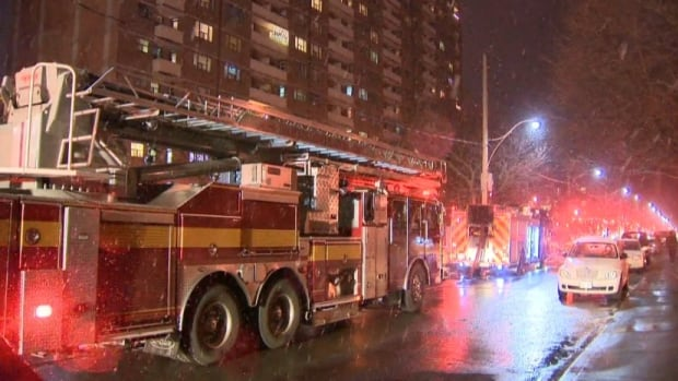 A 59-year-old man is dead after the two-alarm fire completely gutted an apartment in a Parkdale highrise.