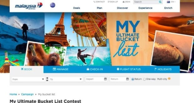 Malaysian Airlines bucket list