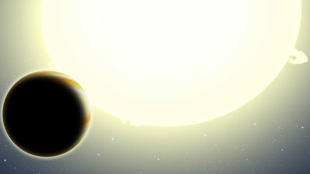 Artist's conception of new exoplanet HIP 116454 b, which is too close to its sun to support life.