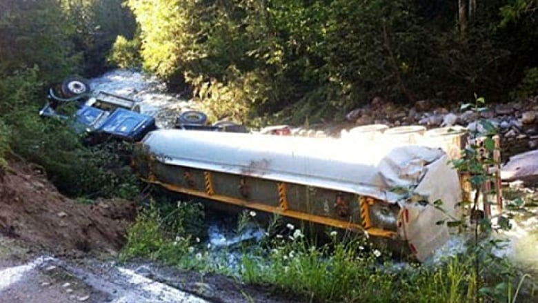 Trucker who drove down closed road found guilty in Lemon Creek fuel spill